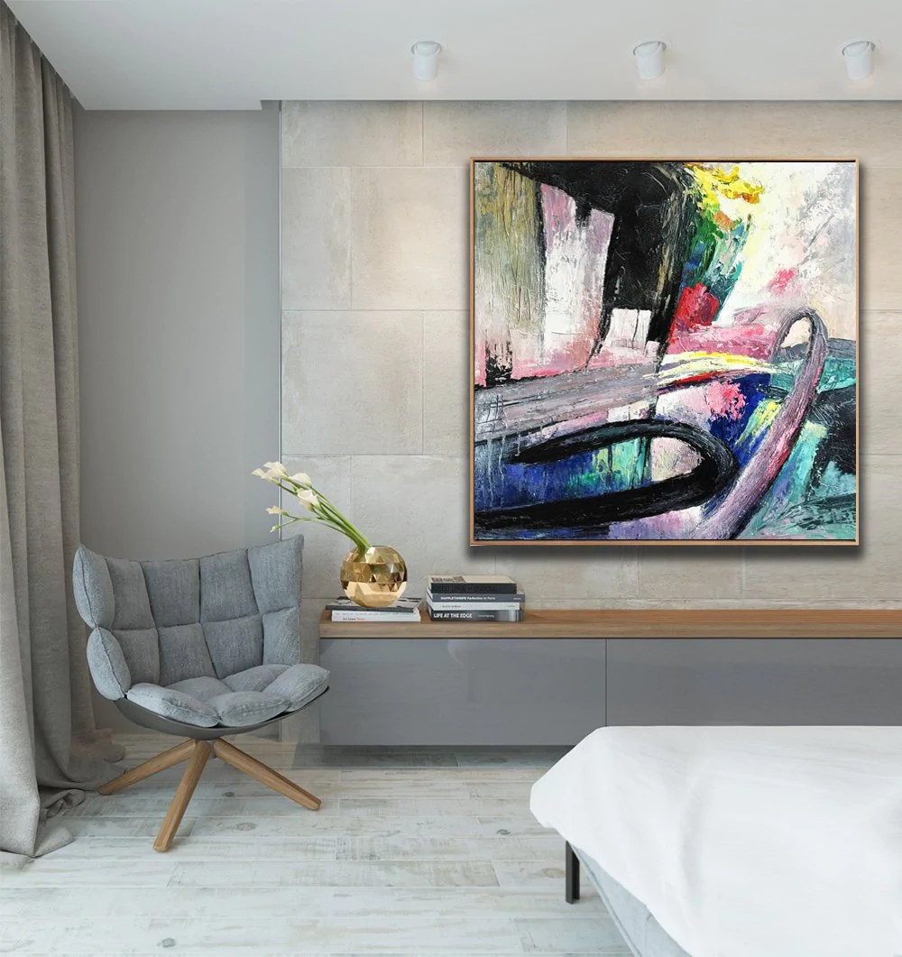 large canvas art for living room latest table design abstract original painting acrylic