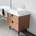 Portree 30 Walnut Mid Century Freestanding Bathroom Vanity Kartonrepublic