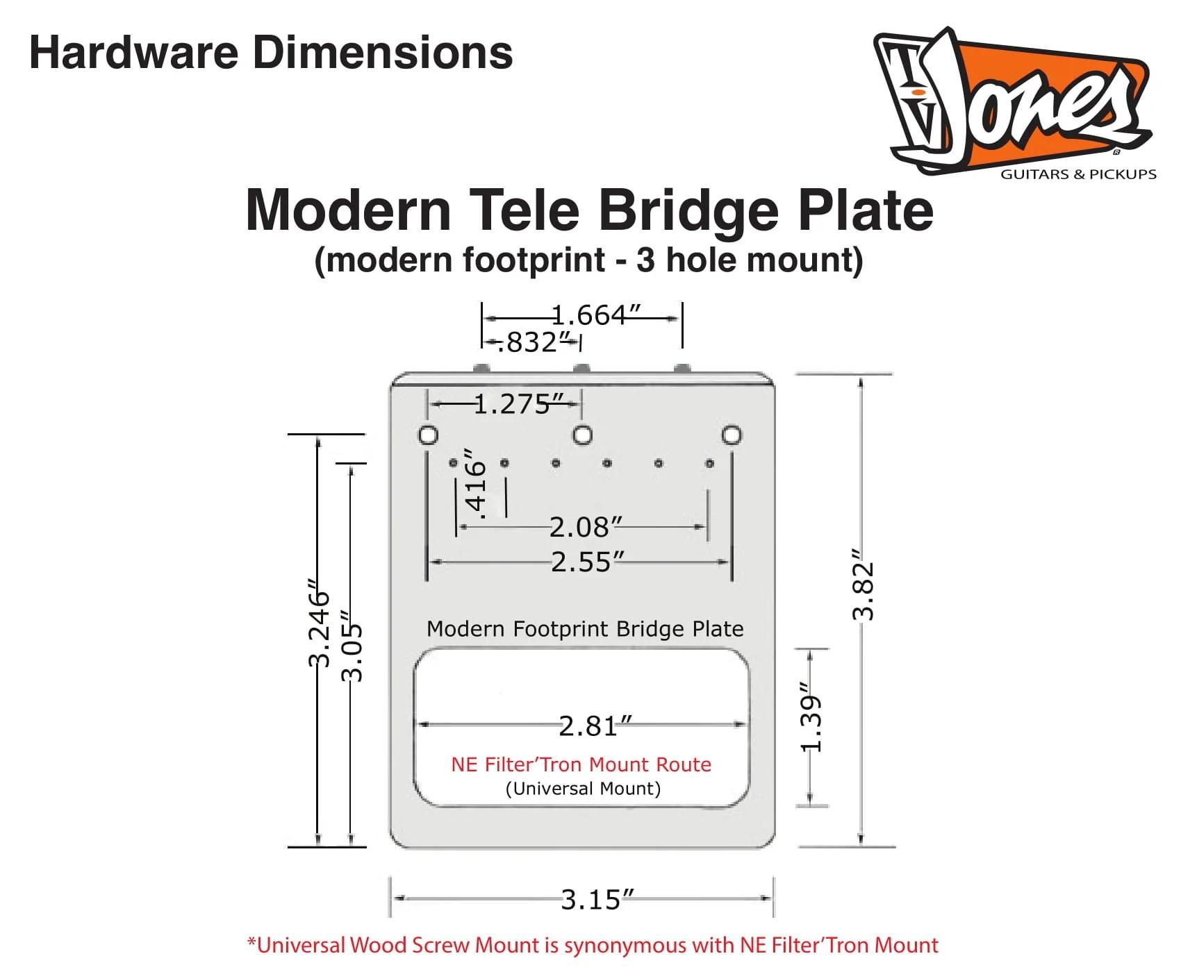 modern vs original the modern tele bridge plate mounts with 3 holes and the original tele bridge plate mounts with 4 holes  [ 1700 x 1400 Pixel ]