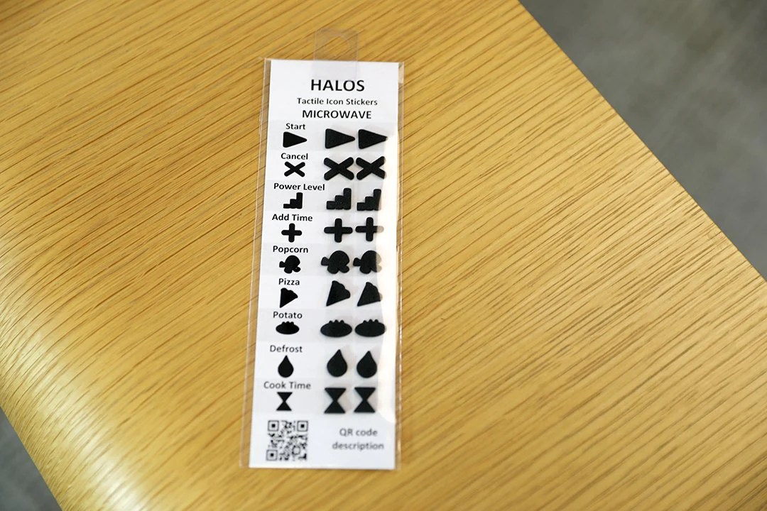 halos microwave tactile overlay stickers 2 sets per pack
