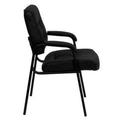 Office Side Chair Arm Chairs Target Reception Lobby Seat Leather Executive Waiting Allstuffmart