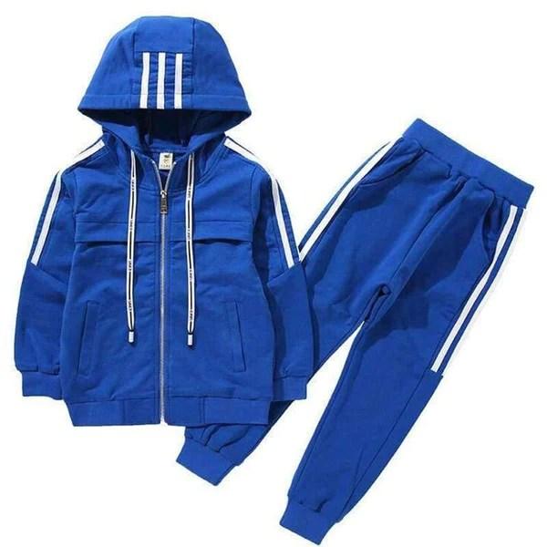 boys kids sports set casual fashion tracksuits jacket sweatshirt pants outfit clothing boys