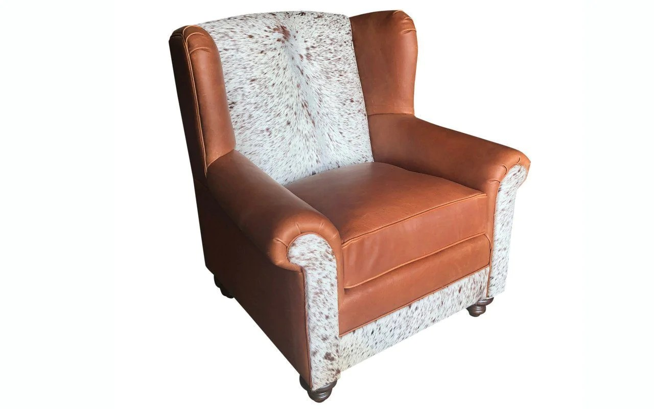 Oversized Wingback Chair Longhorn Oversized Wingback Chair Santa Fe Ranch
