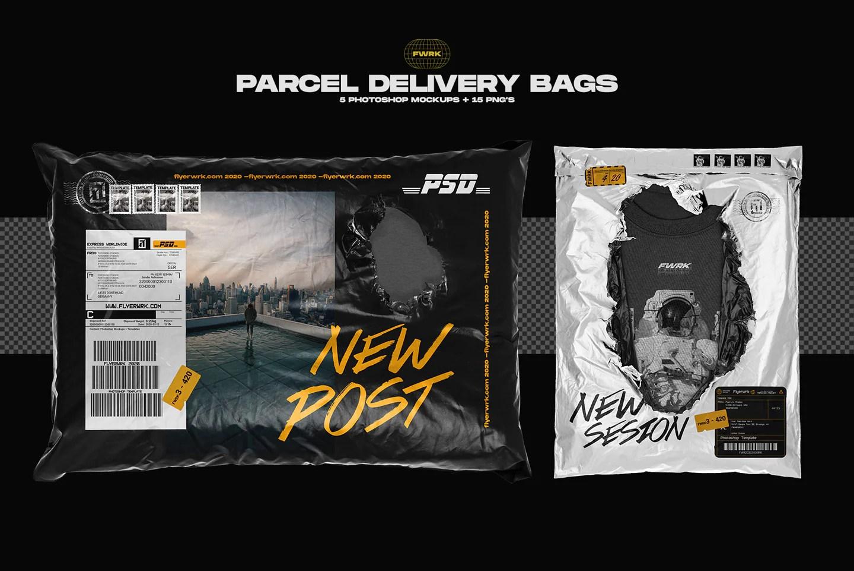 mockup zone by artboard studio. Parcel Delivery Bag Mockups Flyerwrk