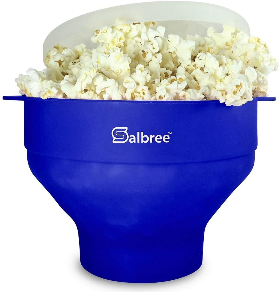 salbree microwave popcorn popper blue