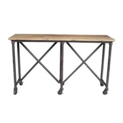 Sofa Console Tables Wood Living Room Color With Red Elm Table Denio S Furniture