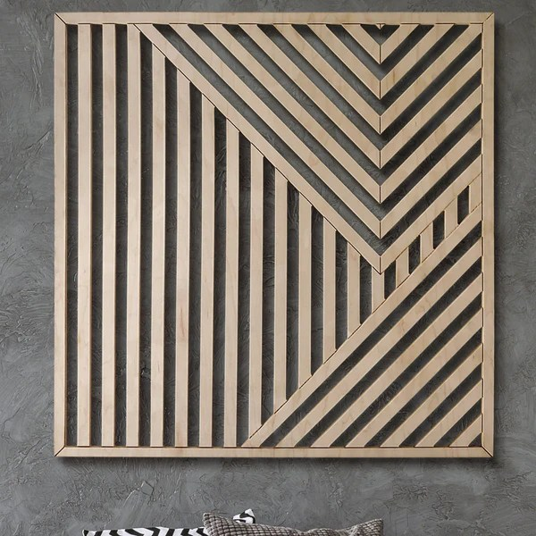Abstract Wood Art : abstract, Geometric, Abstract, Wooden, Modern, Other, Furniture-, Decor