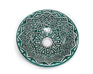 handpainted moroccan ceramic sink