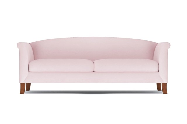 Albright Sofa - Pink Velvet -  Modern Couch Made in the USA - Sold by Apt2B