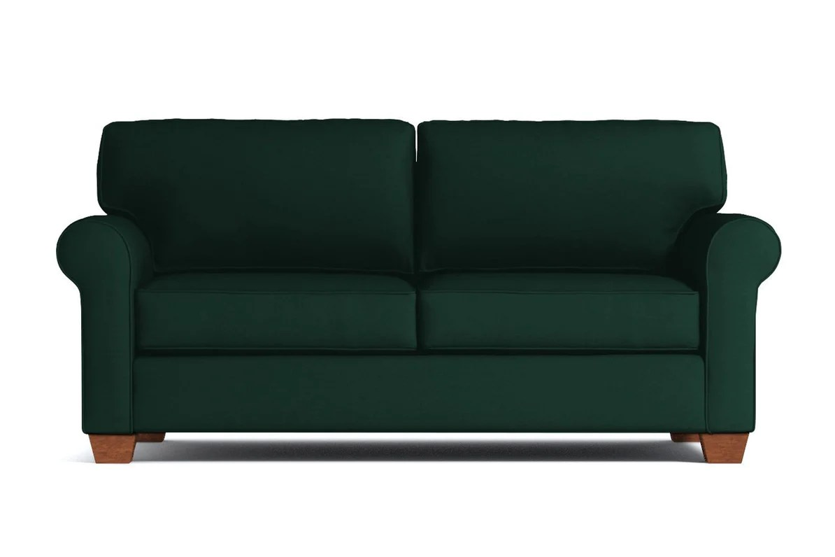 sofa bed with innerspring mattress topper lafayette apartment size sleeper queen apt2b leg finish pecan option deluxe