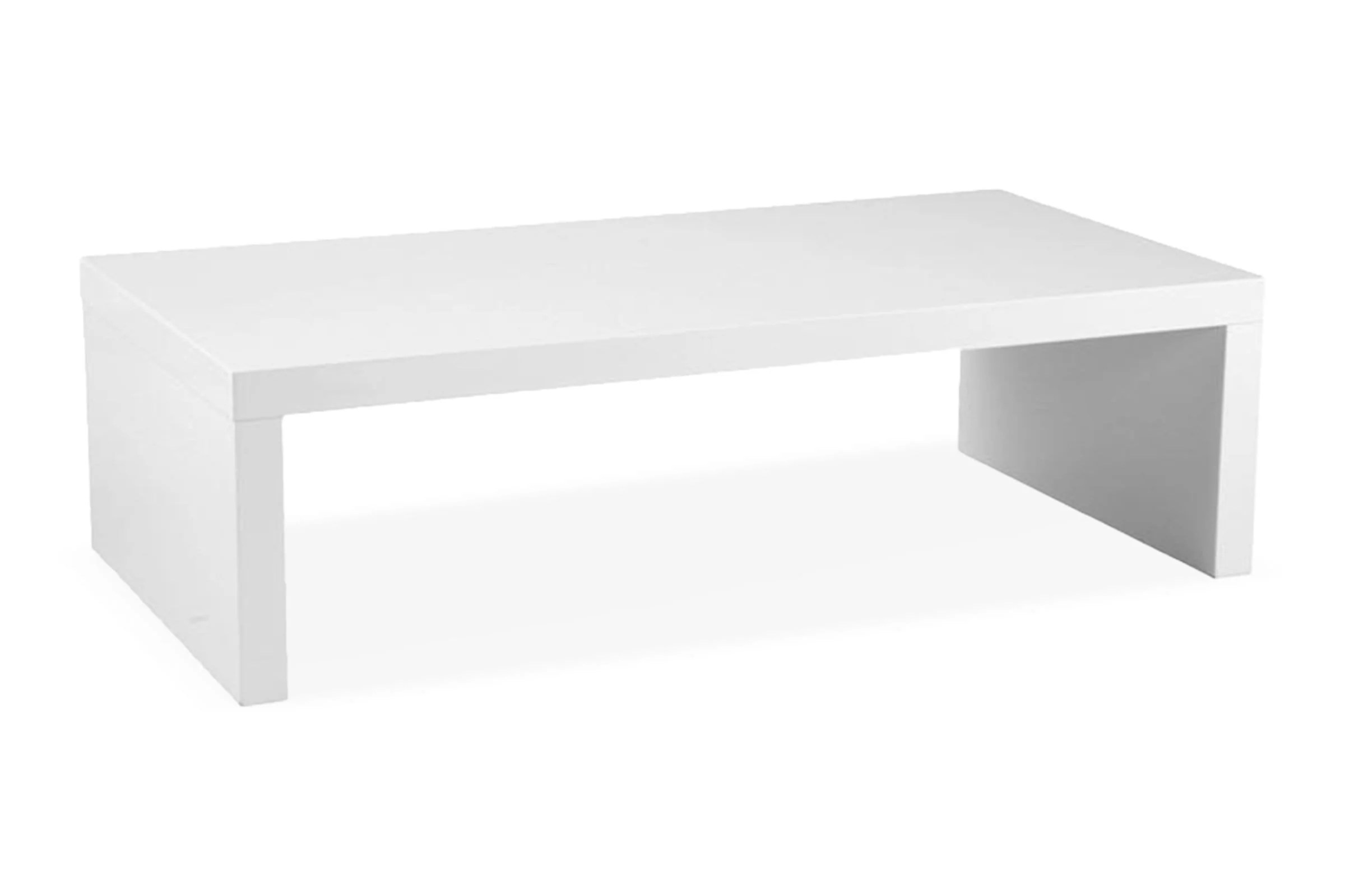cloverdale coffee table white lacquer