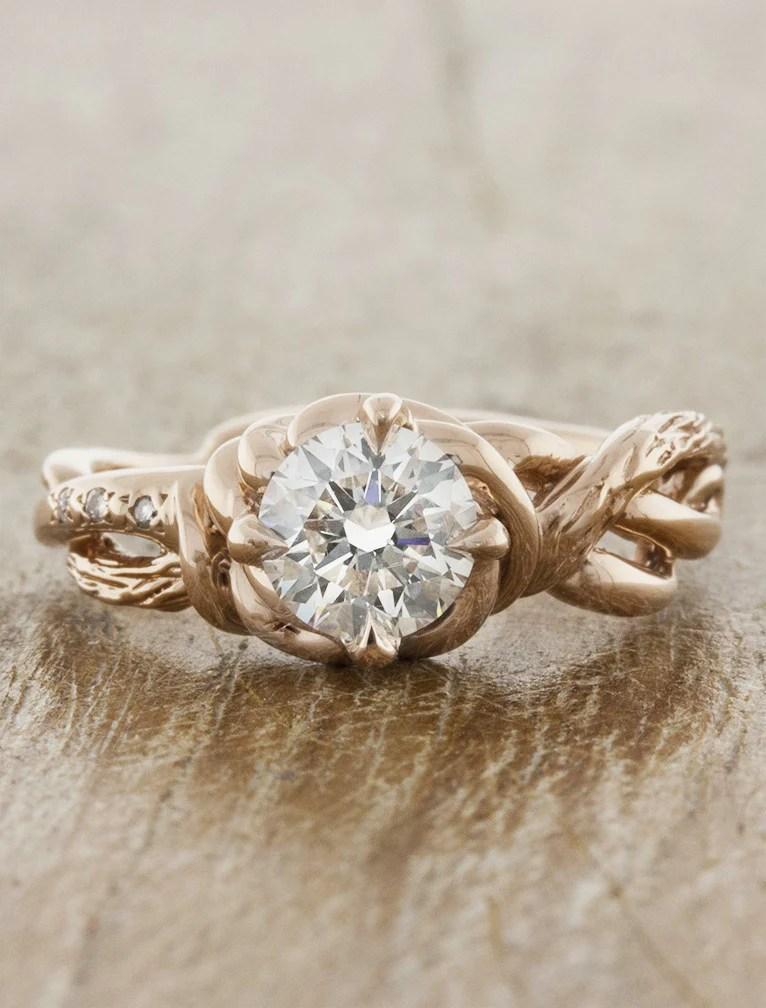 Landress Sculptural Organic Shaped Diamond Ring  Ken