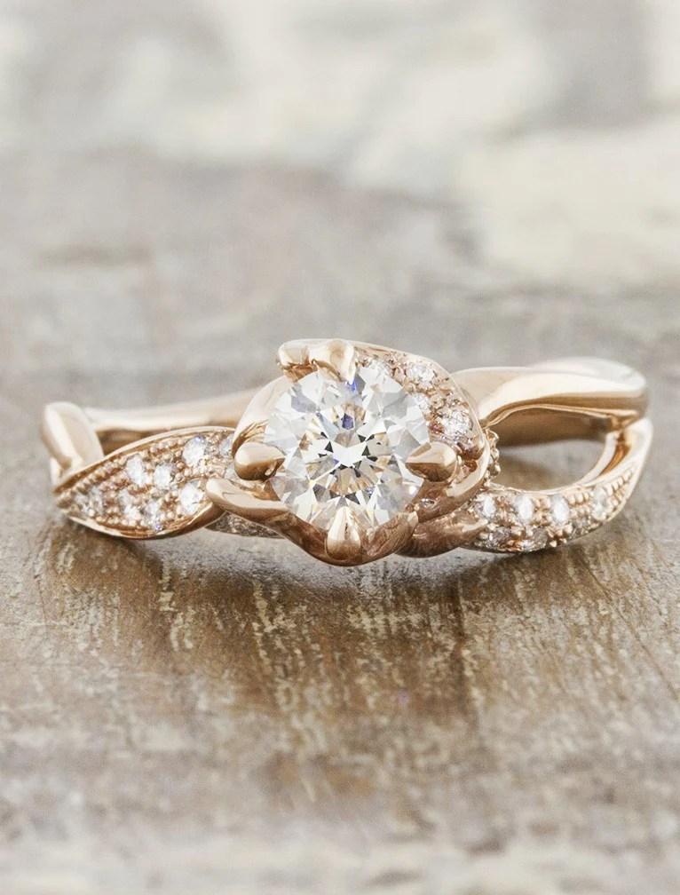 Sundara 05ct Unique Sculptural Split Shank Diamond Ring