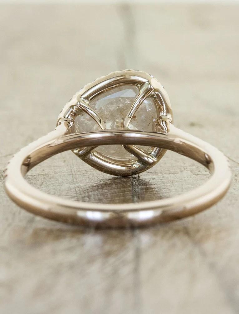 Audrix Rustic Pink Diamond Rose Gold Ring  Ken  Dana Design