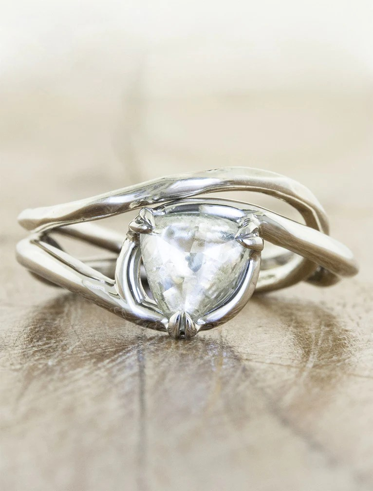 Knolly Organic Amp Nature Inspired Raw Diamond Ring Ken