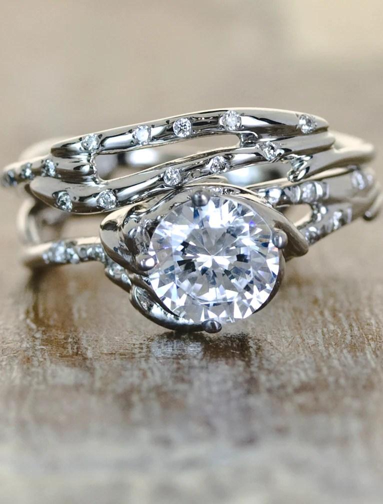 Daya: Sculptural Diamond Engagement Ring | Ken & Dana Design