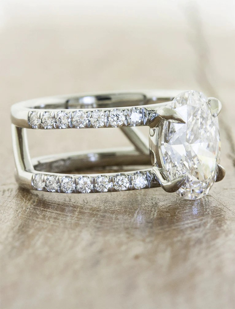 Chelsea Double Band VintageInspired Oval Ring  Ken