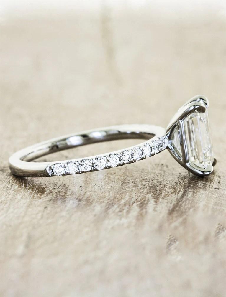 Sybil Classic Emerald Cut Diamond Engagement Ring Ken Amp Dana Design