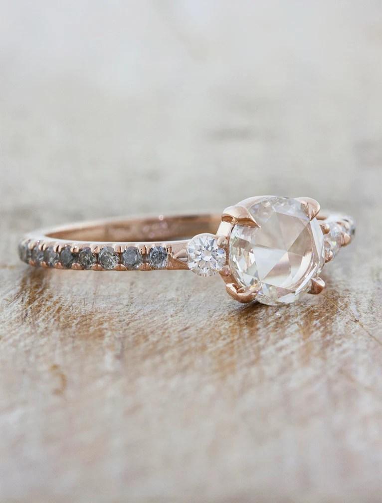 Delilah Rose Cut Diamond Engagement Ring Ken Amp Dana Design