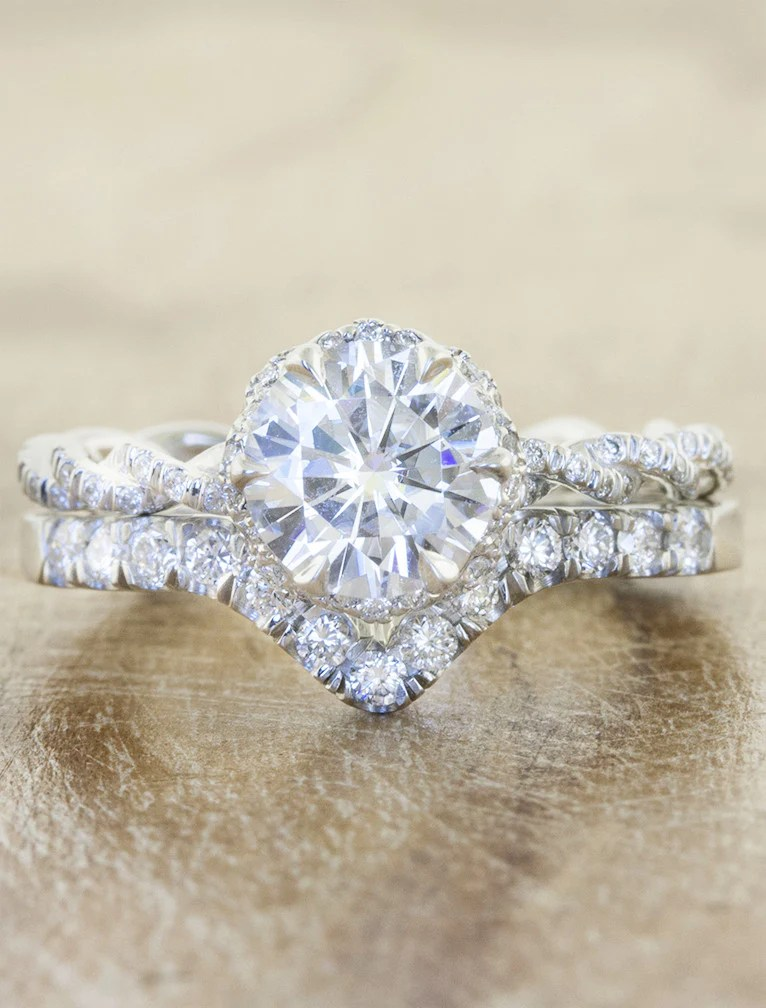 Anna V Shaped Diamond Wedding Band Ken Amp Dana Design