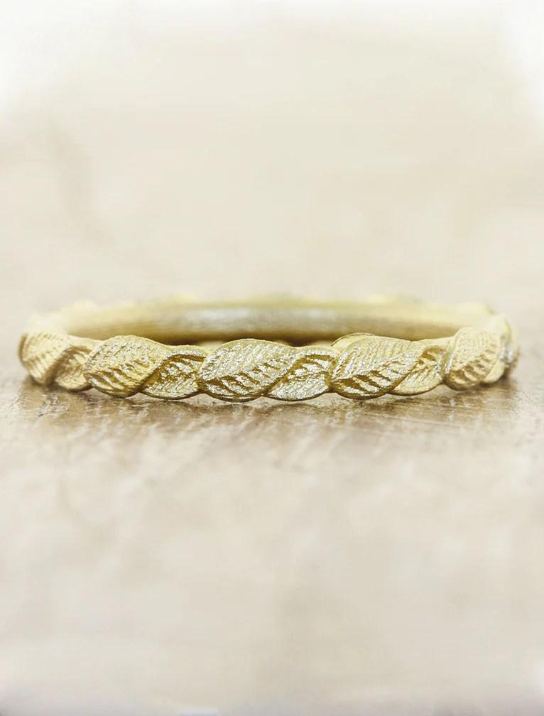 Briar Gold Overlapping Leaf Ring  Ken  Dana Design
