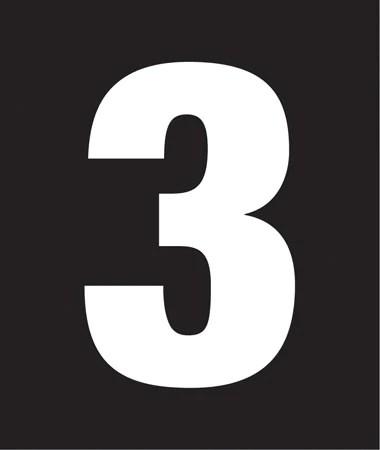 number 3 # 13