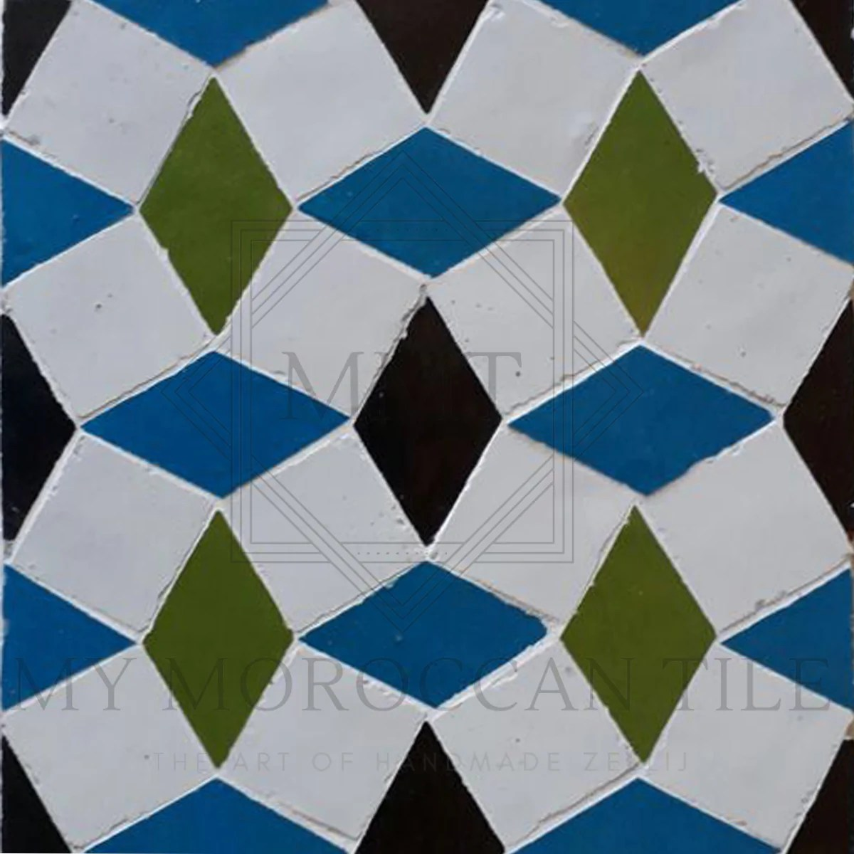 diamond mosaic tile my moroccan tile