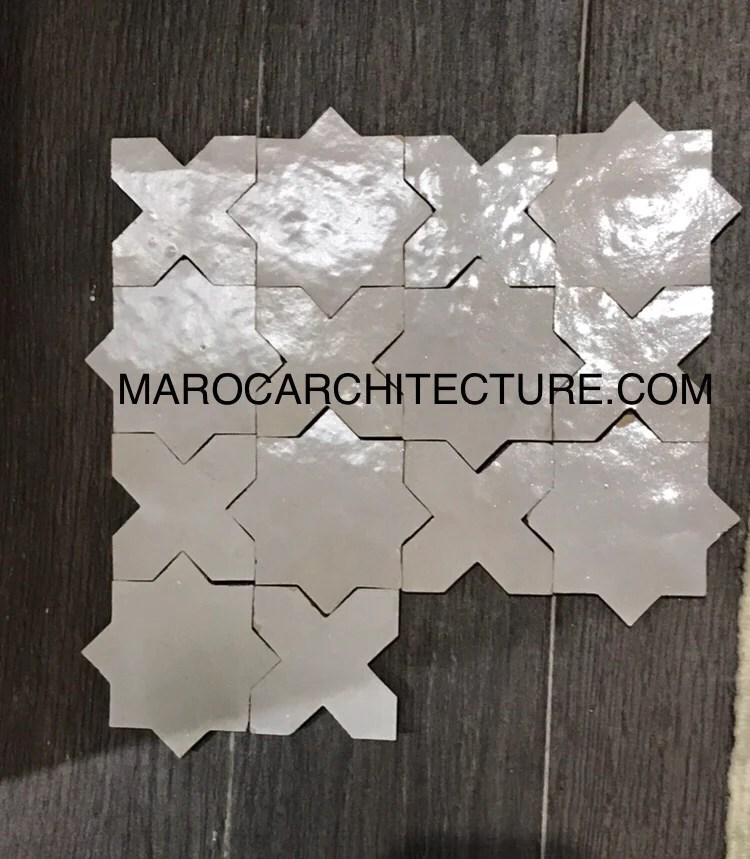 star and cross moroccan tile