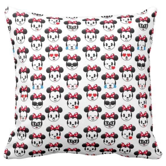 disney emoji pillow minnie mouse throw pillow decor minnie mouse red polkadot bow emoji blitz pillow gift bedroom decor