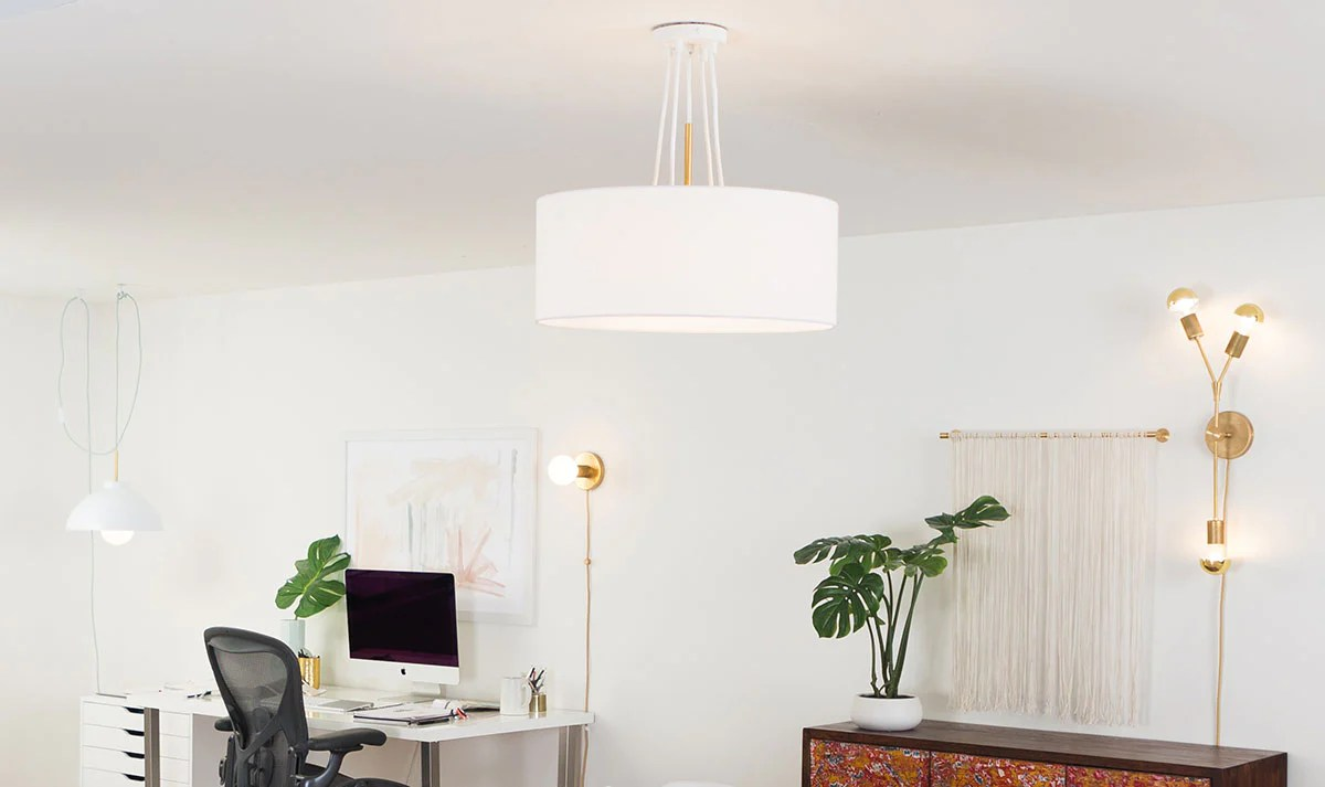 lighting ideas for home office color