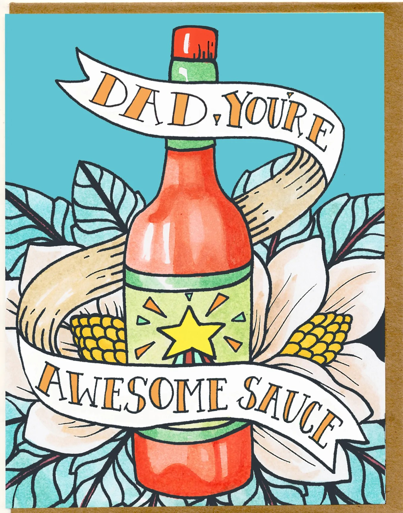 small resolution of dad you re awesome sauce card