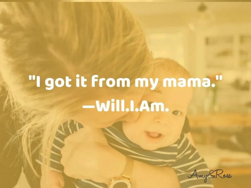 Funny Mom Quote I got it from Mama