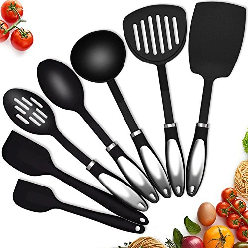 kitchen utensil sets compost pail for twichan silicone nonstick cooking best great