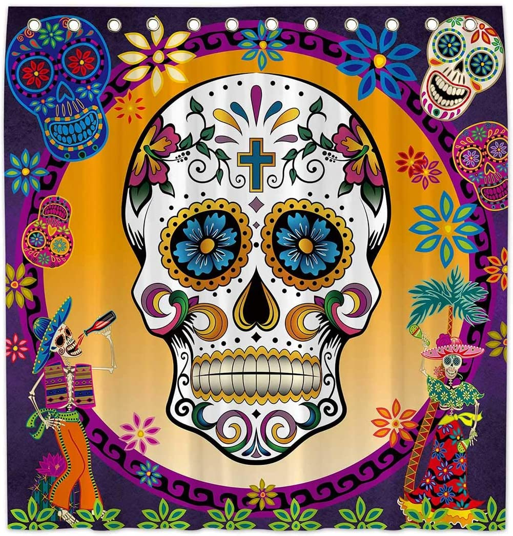 sugar skull shower curtains awesome