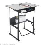 Alphabetter Adjustable Height Stand Up Desk 36 X 24 Premium Top Bo Nextgen Furniture Inc