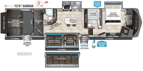 Atlanta RV Show Fall 4115 Cyclone floor plan
