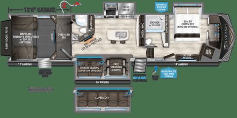 Atlanta RV Show Fall 4115 Cyclone floor plan