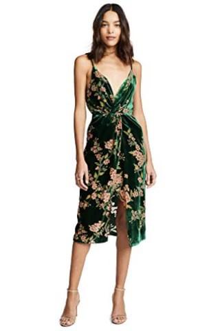 J.O.A. Women's Emerald Floral Dress