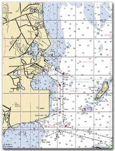 rhode island nautical chart tile art
