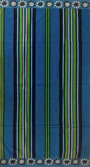 Thick Oversized Blue and Purple Stripe Beach Towel For Sale