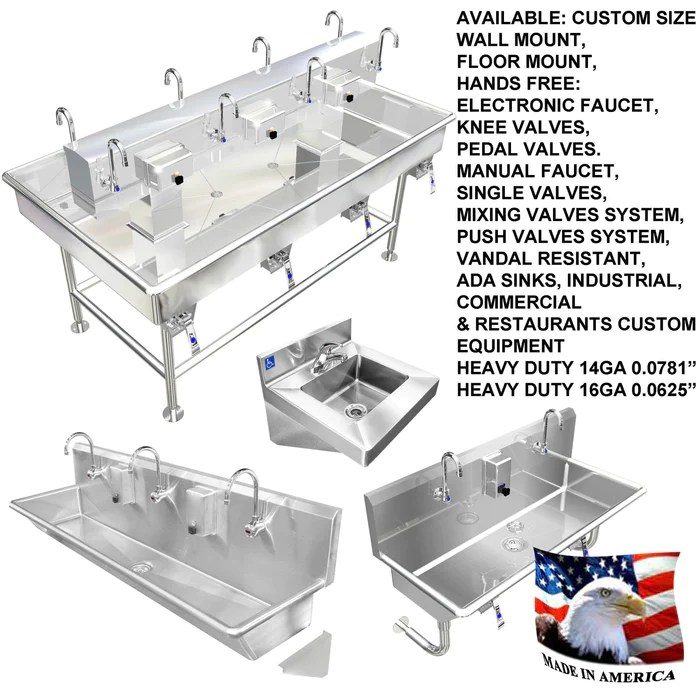 heavy duty stainless steel 14 gauge 0 0781 type 304 3 compartment restaurant commercial sink 18 tubs 120 1 4 120303xxl8