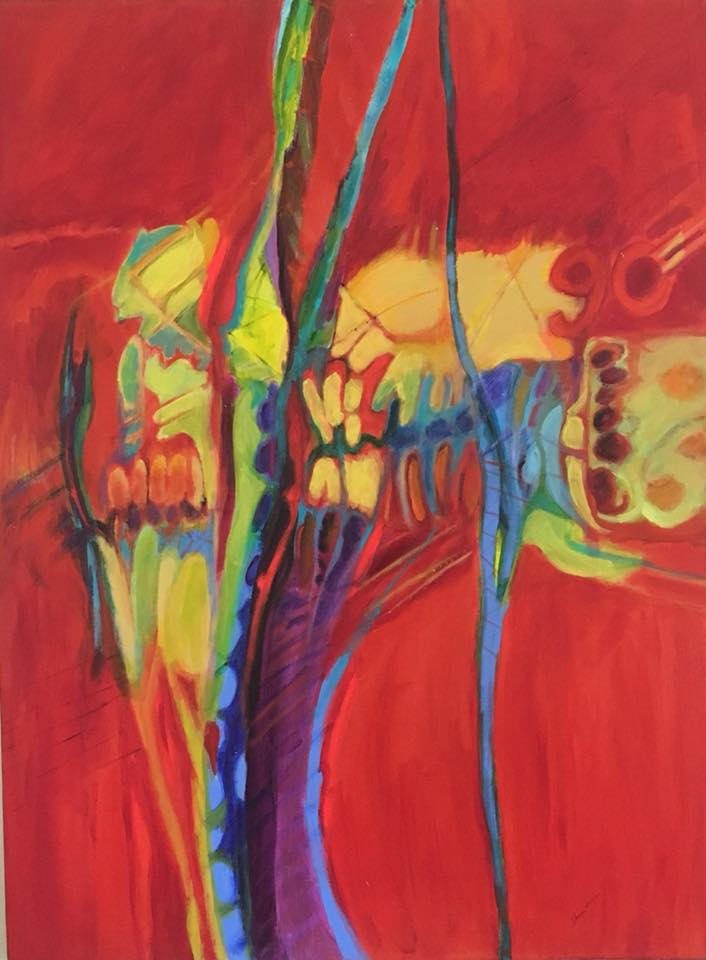 sharon allen abstract acrylic