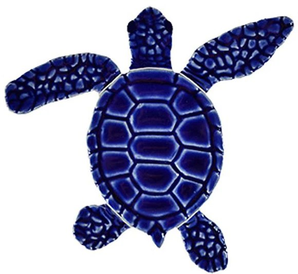 sea turtle pool mosaic tiles
