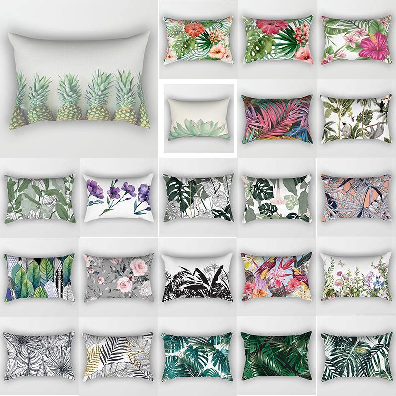 tropical floral bed pillow cases various designs
