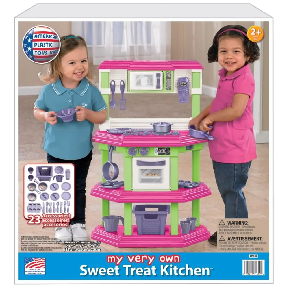 american plastic toys custom kitchen installing backsplash tile sheets deluxe with 22 accessories papayasos