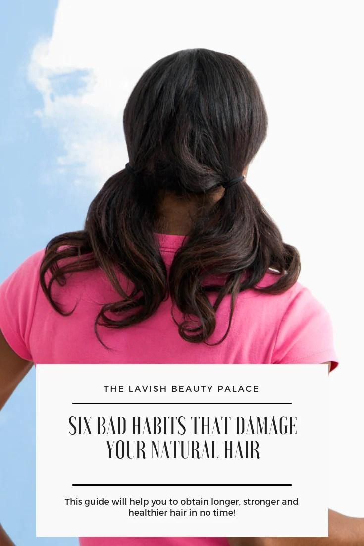 Damaged Natural Hair Six Bad Habits That Damage Natural Hair