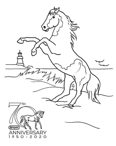 Breyer Horse Coloring Pages : breyer, horse, coloring, pages, 2020-2021, Magalog, Coloring, Contest, BreyerHorses.com