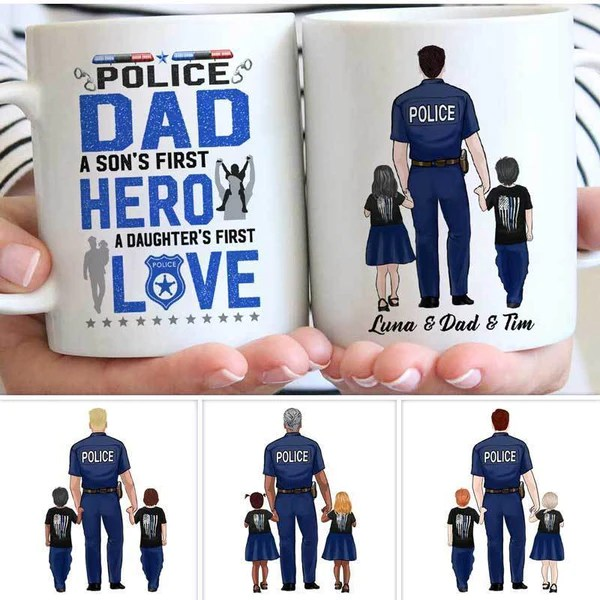 Personalized Gifts For Police Officers Police Dad Son