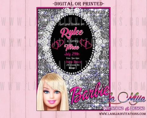barbie birthday party customized item barbie party ideas barbie invitations barbie birthday invitations barbie party invitations barbie birthday