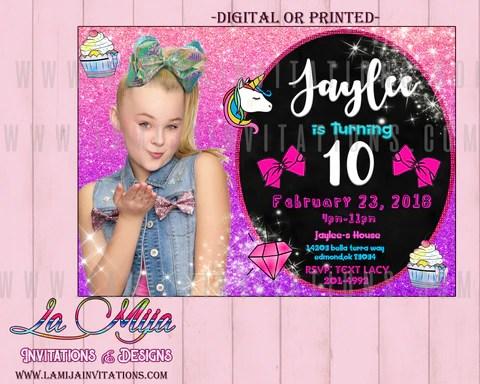 jojo siwa party customized item jojo siwa party invitations jojo siwa birthday invitations jojo siwa ideas jojo siwa invitaciones